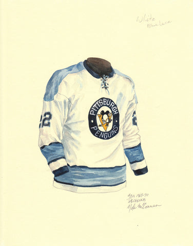 Pittsburgh Penguins 1969-70 - Heritage Sports Art - original watercolor artwork - 2