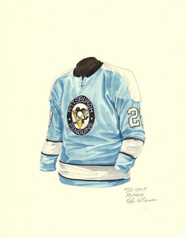 Pittsburgh Penguins 1970-71 - Heritage Sports Art - original watercolor artwork - 1