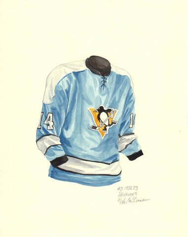 Pittsburgh Penguins 1972-73 - Heritage Sports Art - original watercolor artwork - 1