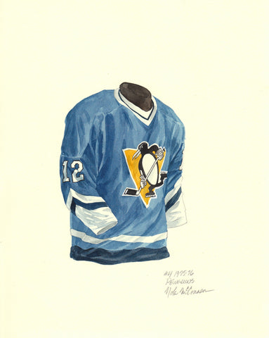 Pittsburgh Penguins 1975-76 - Heritage Sports Art - original watercolor artwork - 1