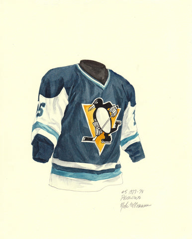 Pittsburgh Penguins 1977-78 - Heritage Sports Art - original watercolor artwork - 1