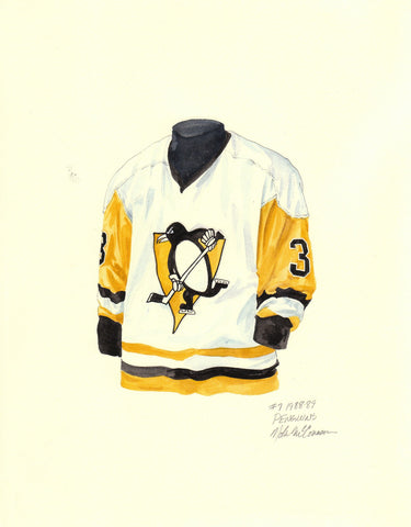 Pittsburgh Penguins 1988-89 - Heritage Sports Art - original watercolor artwork - 1