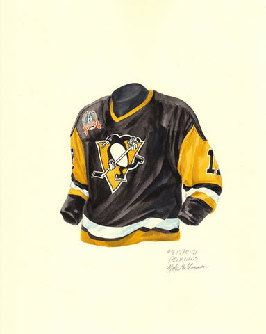 Pittsburgh Penguins 1990-91 - Heritage Sports Art - original watercolor artwork - 1
