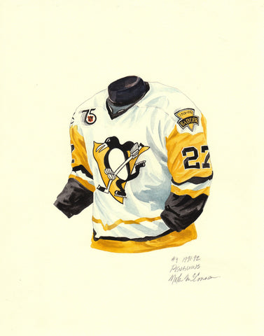 Pittsburgh Penguins 1991-92 - Heritage Sports Art - original watercolor artwork - 1