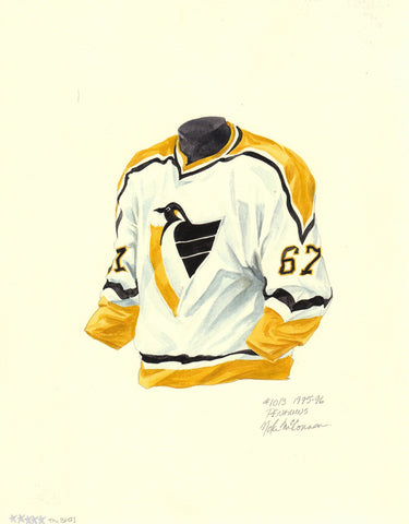 Pittsburgh Penguins 1995-96 - Heritage Sports Art - original watercolor artwork - 1