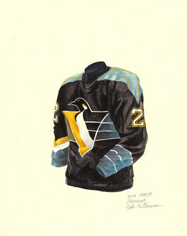 Pittsburgh Penguins 1998-99 - Heritage Sports Art - original watercolor artwork - 1