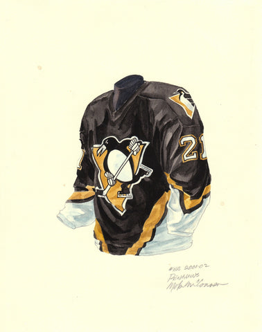 Pittsburgh Penguins 2001-02 - Heritage Sports Art - original watercolor artwork - 1