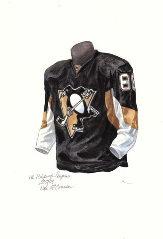 Pittsburgh Penguins 2007-08 - Heritage Sports Art - original watercolor artwork - 1