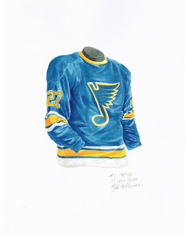 St. Louis Blues 1967-68 - Heritage Sports Art - original watercolor artwork - 1