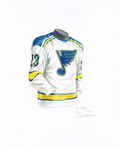 St. Louis Blues 1968-69 - Heritage Sports Art - original watercolor artwork - 1