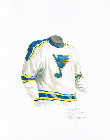 St. Louis Blues 1970-71 - Heritage Sports Art - original watercolor artwork - 1