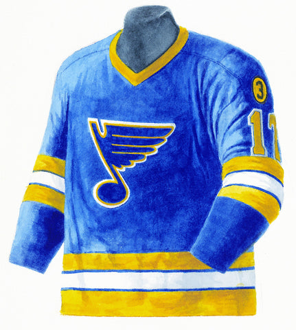 St. Louis Blues 1973-74 Next Six - Heritage Sports Art - original watercolor artwork - 1