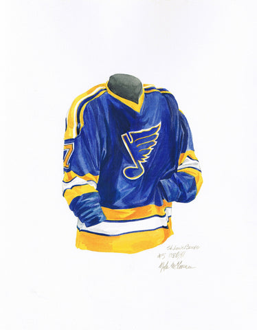 St. Louis Blues 1980-81 - Heritage Sports Art - original watercolor artwork - 1
