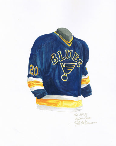 St. Louis Blues 1984-85 - Heritage Sports Art - original watercolor artwork - 1
