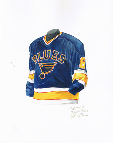 St. Louis Blues 1986-87 - Heritage Sports Art - original watercolor artwork - 1