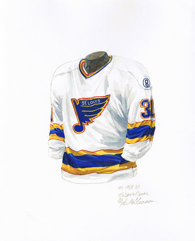 St. Louis Blues 1988-89 - Heritage Sports Art - original watercolor artwork - 1