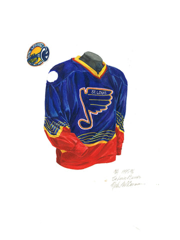 St. Louis Blues 1995-96 - Heritage Sports Art - original watercolor artwork - 1