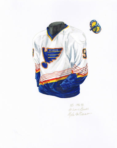 St. Louis Blues 1996-97 - Heritage Sports Art - original watercolor artwork - 1