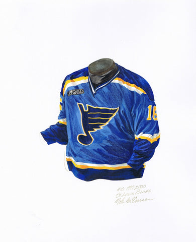 St. Louis Blues 1999-2000 - Heritage Sports Art - original watercolor artwork - 1