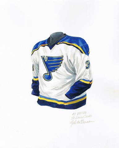 St. Louis Blues 2001-02 - Heritage Sports Art - original watercolor artwork - 1