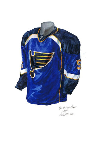 St. Louis Blues 2007-08 - Heritage Sports Art - original watercolor artwork - 1