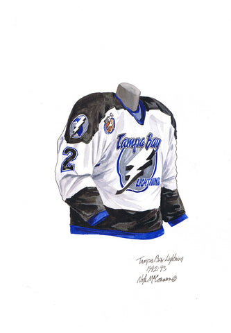 Tampa Bay Lightning 1992-93 - Heritage Sports Art - original watercolor artwork - 1