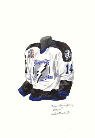 Tampa Bay Lightning 2003-04 - Heritage Sports Art - original watercolor artwork - 1