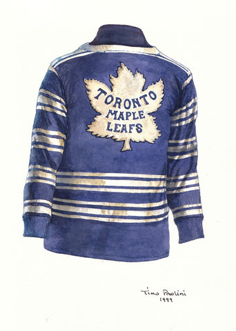 Toronto Maple Leafs 1931-32 - Heritage Sports Art - original watercolor artwork - 1
