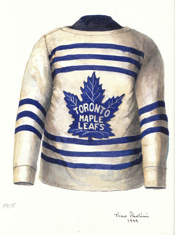 Toronto Maple Leafs 1934-35 - Heritage Sports Art - original watercolor artwork - 1