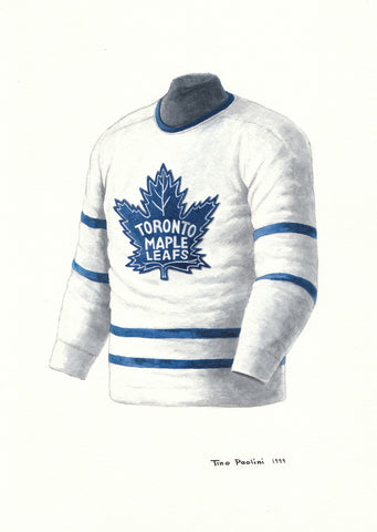 Toronto Maple Leafs 1947-48 - Heritage Sports Art - original watercolor artwork - 1