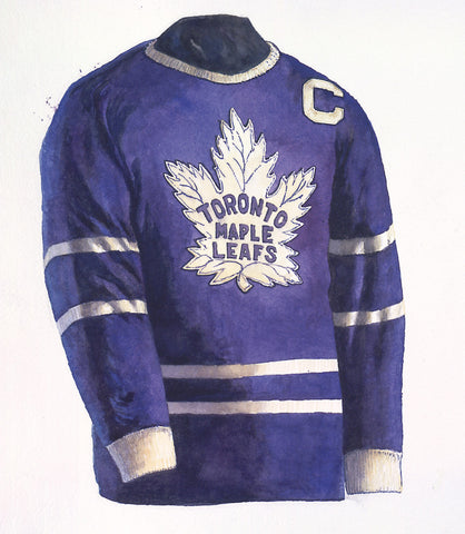 Toronto Maple Leafs 1954-55 - Heritage Sports Art - original watercolor artwork - 1