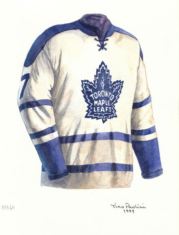 Toronto Maple Leafs 1959-60 - Heritage Sports Art - original watercolor artwork - 1