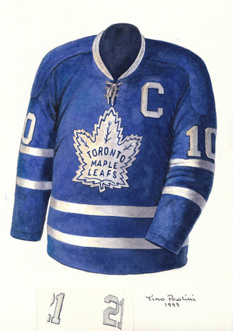 Toronto Maple Leafs 1963-64 - Heritage Sports Art - original watercolor artwork - 1