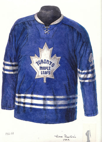 Toronto Maple Leafs 1966-67 - Heritage Sports Art - original watercolor artwork - 1