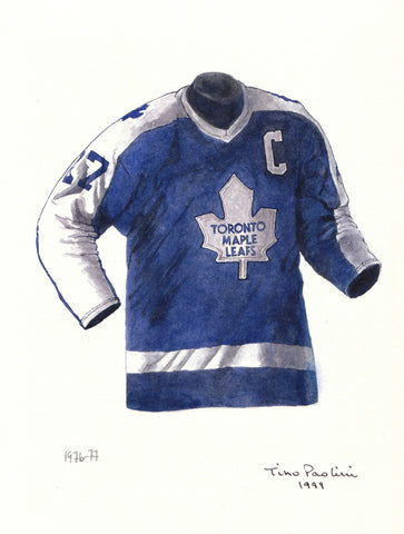 Toronto Maple Leafs 1976-77 - Heritage Sports Art - original watercolor artwork - 1