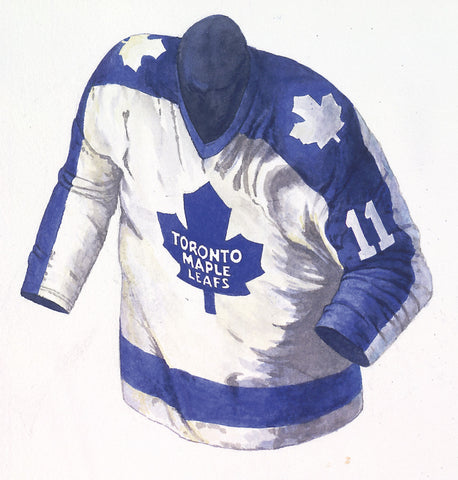 Toronto Maple Leafs 1982-83 - Heritage Sports Art - original watercolor artwork - 1