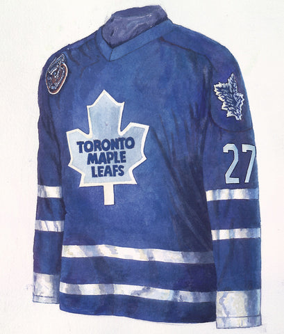 Toronto Maple Leafs 1992-93 - Heritage Sports Art - original watercolor artwork - 1