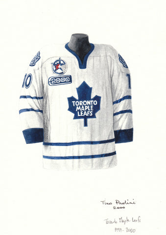 Toronto Maple Leafs 1999-2000 - Heritage Sports Art - original watercolor artwork - 1