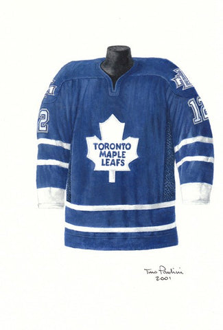 Toronto Maple Leafs 2001-02 - Heritage Sports Art - original watercolor artwork - 1