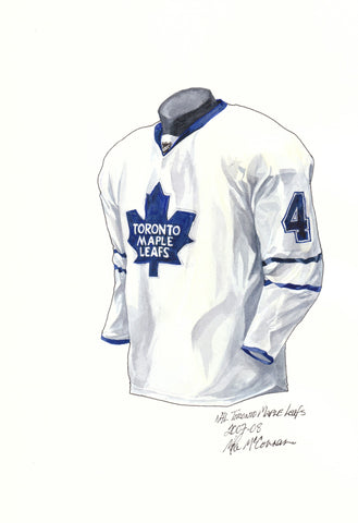 Toronto Maple Leafs 2007-08 - Heritage Sports Art - original watercolor artwork - 1