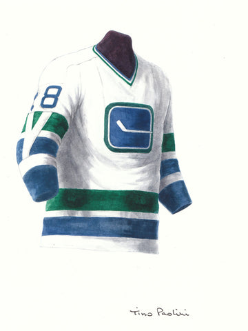 Vancouver Canucks 1970-71 - Heritage Sports Art - original watercolor artwork - 1