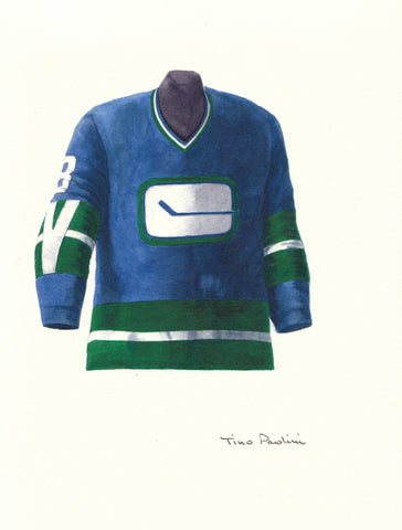 Vancouver Canucks 1972-73 - Heritage Sports Art - original watercolor artwork - 1