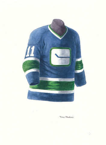 Vancouver Canucks 1974-75 - Heritage Sports Art - original watercolor artwork - 1