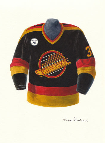 Vancouver Canucks 1985-86 - Heritage Sports Art - original watercolor artwork - 1