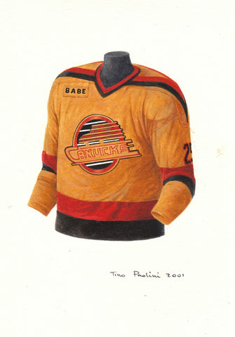 Vancouver Canucks 1988-89 - Heritage Sports Art - original watercolor artwork - 1