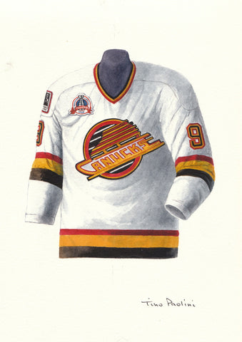 Vancouver Canucks 1993-94 - Heritage Sports Art - original watercolor artwork - 1