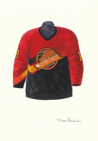 Vancouver Canucks 1995-96 - Heritage Sports Art - original watercolor artwork - 1