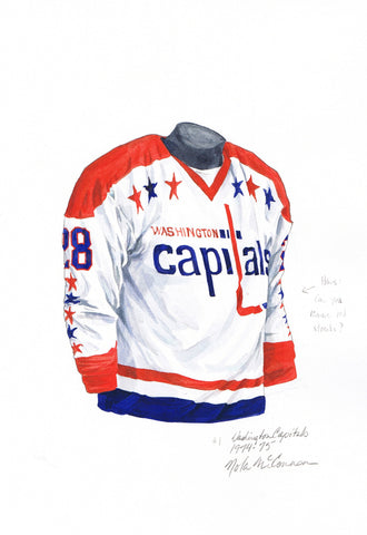 Washington Capitals 1974-75 - Heritage Sports Art - original watercolor artwork - 1