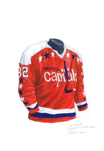 Washington Capitals 1976-77 - Heritage Sports Art - original watercolor artwork - 1