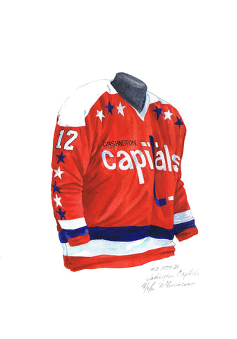 Washington Capitals 1979-80 - Heritage Sports Art - original watercolor artwork - 1